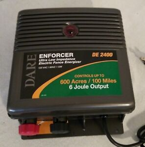 Dare Enforcer 600 Acre 100mile Electric Fence Energizer De2400 120v 6 Joule