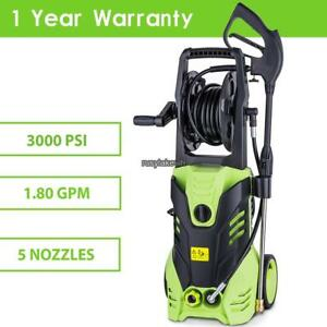 1800w 2200psi 1 7gpm Electric High Pressure Cleaner Reel Style Cleaning Rlwh 01