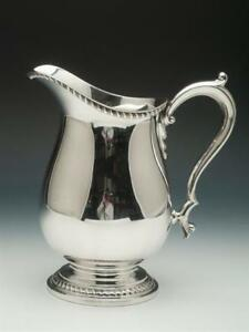 Antique Sterling Silver Water Pitcher 4 Pint Capacity Made By Wallace Silver