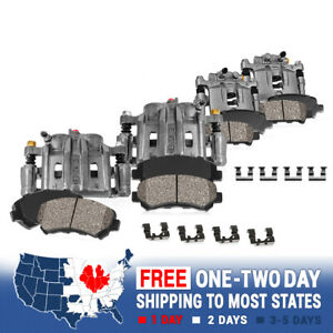 Front Rear Oe Brake Calipers Ceramic Pads For 1996 1997 1998 Acura Rl