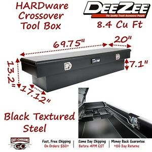 Dz8170sb Dee Zee 70 Steel Truck Crossover Tool Box Standard Single Lid Black