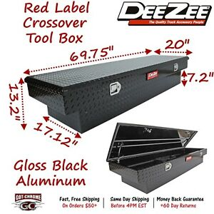 Dz8170b Dee Zee Aluminum Truck Crossover Tool Box Standard Single Lid Black