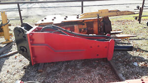 Allied Krupp Hydraulic Breaker Hammer Hm1500 5500lb Impact 26 40 Ton Carrier