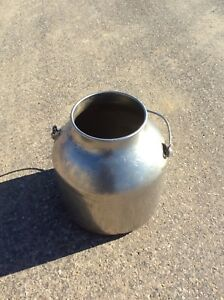 Vintage 5 Gallon Milk Cream Pail Bucket Can Stainless Steel Dairy Footed