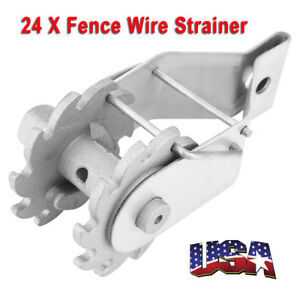 Inline Ratchet Wire Strainer Tensioner Fencing Electric Fence Energiser Us Stock