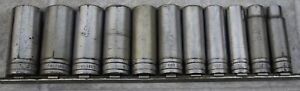 Snap on 1 2 Flank Drive Deep Impact Socket Set 11pc Ts161a ts361