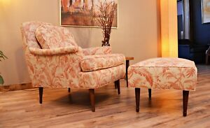 Mid Century 1950 S Danish Style Lounge Chair And Ottoman