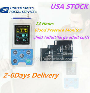 Usa 24h Arm Nibp Monitor Care Ambulatory Blood Pressure Monitor Abpm50 3 Cuffs