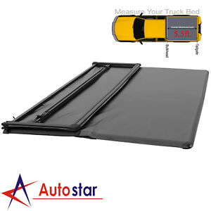 Soft Tri Fold Tonneau Cover For 2015 2018 Ford F 150 5 5ft Truck Bed