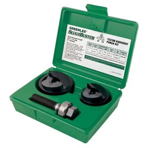 Greenlee 7237bb 1 1 2 And 2 Conduit Size Manual Slug buster Knockout Punch Kit