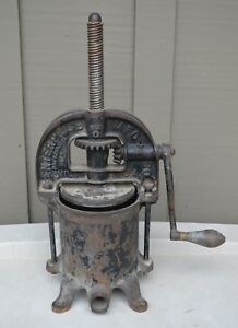 Antique Enterprise Sausage Stuffer Fruit Lard Press Cast Iron Vintage Farm