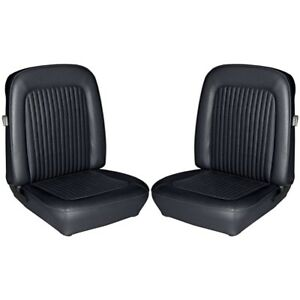 1968 Ford Mustang Fastback Standard Black Front Rear Seat Covers