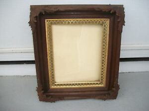 Beautiful Antique Shadow Box Picture Frame15 X13 X2 With 7 1 2 X9 1 2 Opening