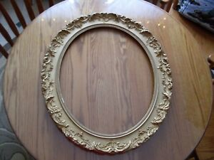 Antique Gold Oval Ornamental Frame