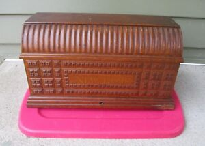 Antique New Home Coffin Top Lid Cover From Treadle Sewing Machine