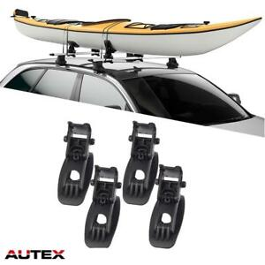 4pcs Black Universal Top Mounted Canoe Boat Kayak Carrier Multi Pivot Roof Rack