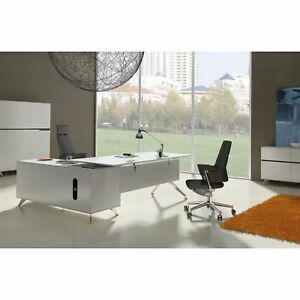 Modern Executive Desk With Right Return Cabinet