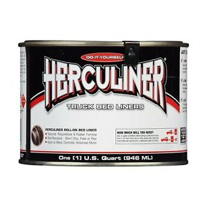 Herculiner Hcl0b7 01 Hcl1b7 Brush On Bed Liner 1 Quart 32 Ounces Black