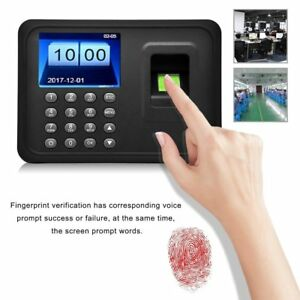 2 4 Tft Fingerprint Time Attendance Clock Employee Payroll Recorder Company