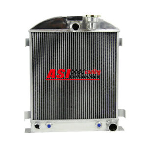 3 Rows Aluminum Radiator For 1935 1936 Ford Grill Shells 3 Chopped Chevy Engine