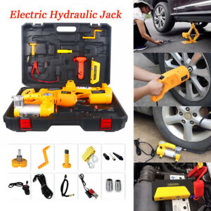 3t Electric Hydraulic Jack Wrench Multifunction Emergency Power Repair Tool Kit