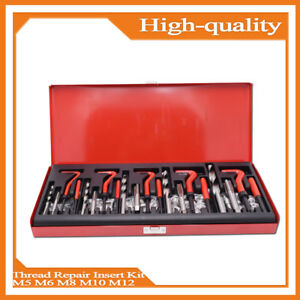 New Professional 131 Helicoil Thread rethread Repair Kit M5 M6 M8 M10 M12 Metric