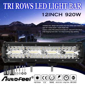 12inch Led Light Bar 920w 142600lm Spot Flood Combo Offroad Cree Suv 4wd Pk 52 4