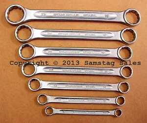 Stahlwille Germany 21 7 Flat Metric Double Box End Wrench Set Type 21 Set Of 7