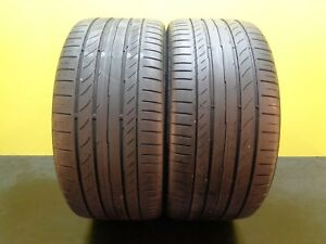 2 Tires Continental Contisportcontact 5 Ssr Run Flat 255 35 19 96y 70 22335