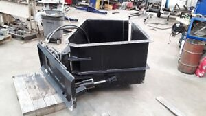 Skid Steer Hydraulic Landscape Clam Bucket Opens Horizontally Trees Debris Etc