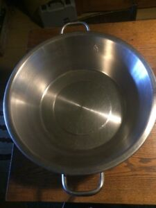 Vollrath Stainless Steel Food Prep Pan Handles Made In Usa Wis 24 Qt