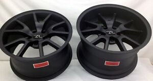 17 Matt Black Mustang Fr500 Replica Wheels Staggered 17x9 17x10 5 5x114 3 94 04