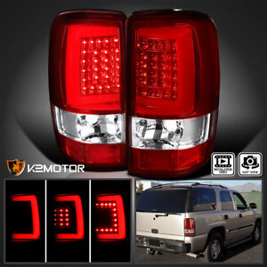 2000 2006 Chevy Tahoe Suburban Gmc Yukon Denali Led Light Bar Tail Lights Pair