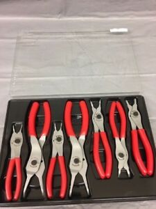 Snap on 7 piece Retaining Ring Plier Set Srpc107 Red Handles