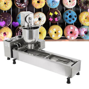 Automatic Donut Machine 3kw Commercial Donut Maker 3 Set Free Mold 500pcs h 110v