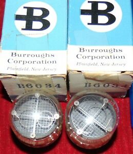 Nos Nib Pair Burroughs B6034 B 6034 Tube s 8 With Large Face 2 New Nixie