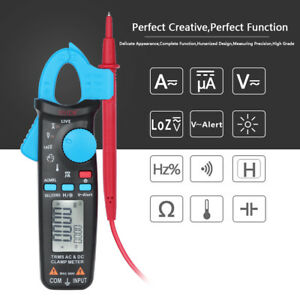 Auto Range Lcd Digital Clamp Meter Multimeter Ac Dc Volt Ohm Tester Ammeter B9s2