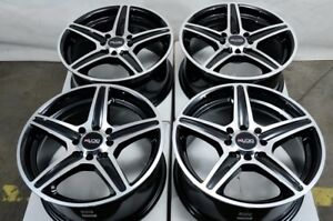 15 Wheels Honda Accord Civic Crx Vw Jetta Cooper Miata Fortwo 4 Lug Black Rims