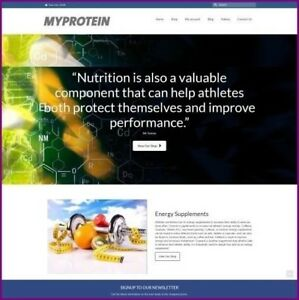 Sports Nutrition Website Business For Sale Work From Home Domain Hosting