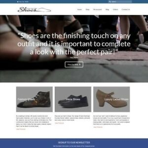 Work From Home Shoes Website Business For Sale Domain Name Hosting Help
