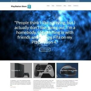 Playstation Website Business For Sale Working From Home Make Money Domain