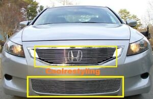 For Honda Accord Coupe 2 Door Model 2008 2009 2010 Billet Grille Inserts Combo