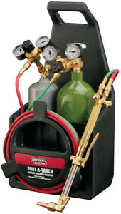 Lincoln Electric Port a torch Kit With Oxygen And Acetylene Tanks And 3 16 In