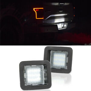 2015 2019 Ford F 150 Led License Plate Rear Bumper Lights Smd Tag Lamps 15 19