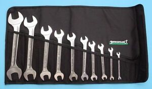 Stahlwille Germany 10 10 Metric Double Open End Wrench Set With Tool Roll