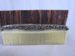 Art Nouveau Sterling Silver Large Hair Comb Beauty