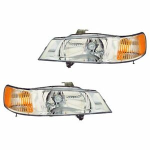Fits 99 04 Honda Odyssey Driver Passenger Side Headlight Lamp Assembly 1 Pair