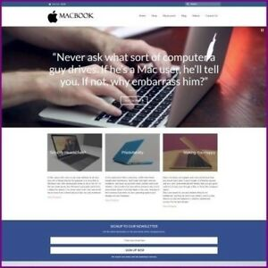 Fully Stocked Dropshipping Macbook Website Business For Sale Domain Hosting