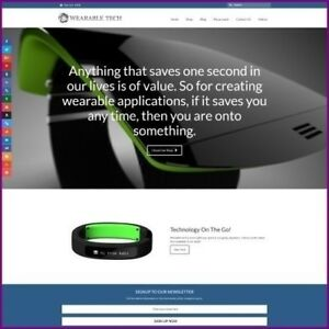 Fully Stocked Dropshipping Wearable Tech Website Business For Sale Domain