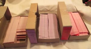 Lot Coupon Tags W out Strings Lavender Pink Red 2 part Perforated Unstrung